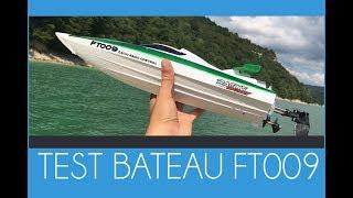 Test du bateau téléguidé FT009 - 50 km/h