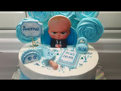 Торт на годик мальчику своими руками фото