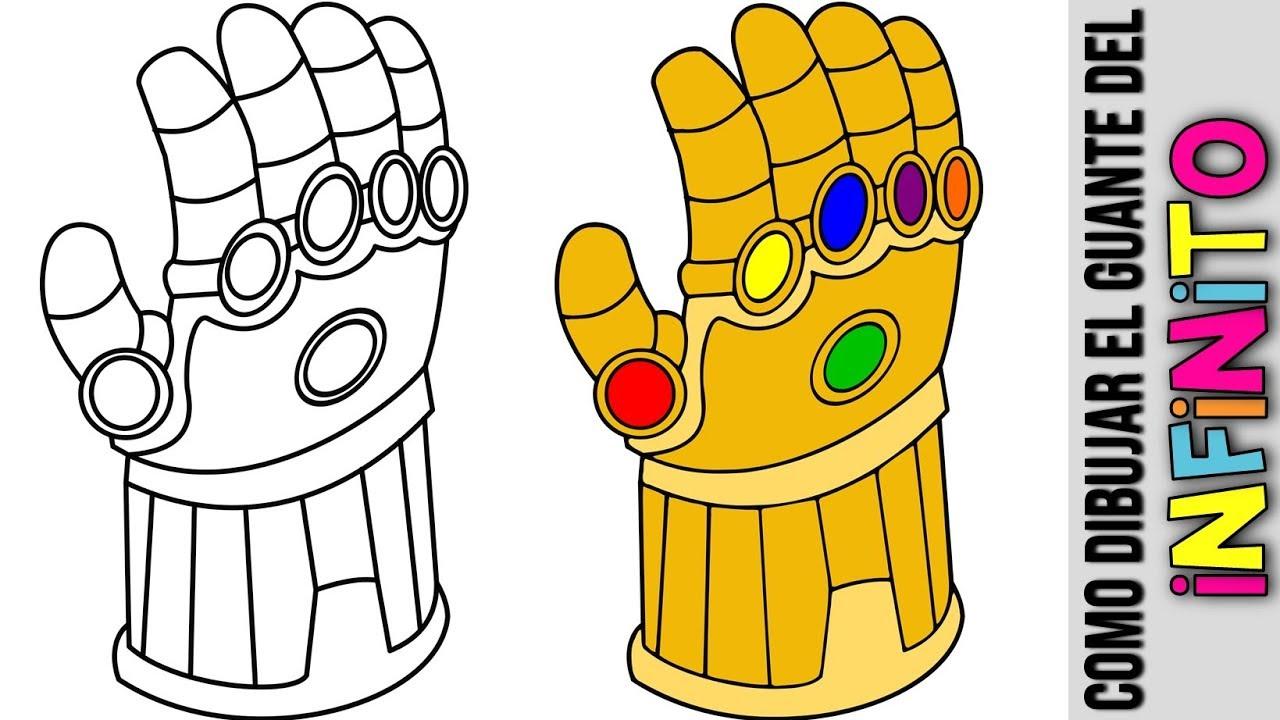 Como Hacer El Guantelete Del Infinito De Marvel Vengadores Dibujado Thanos Avengers