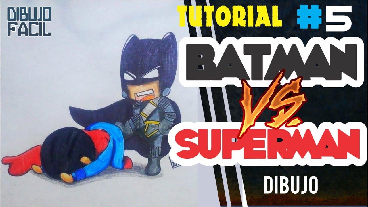 SUPERMAN VS BATMAN Como Dibujar BATMAN VS SUPERMAN
