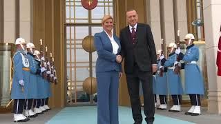 Cumhurbaşkanı Erdoğan, Hırvat Cumhurbaşkanı Kitaroviç'i Karşıladı