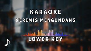 Karaoke Nada Rendah - Gerimis Mengundang