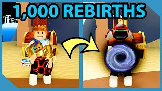 What Happens When you Hit 1000 Rebirths in Roblox Treasure Hunt Simulator