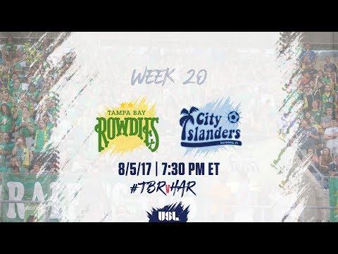 USL LIVE - Tampa Bay Rowdies vs Harrisburg City Islanders 8/5/17