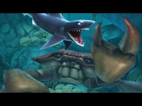 Hungry shark evolution megalodon vs giant crab - photo#37