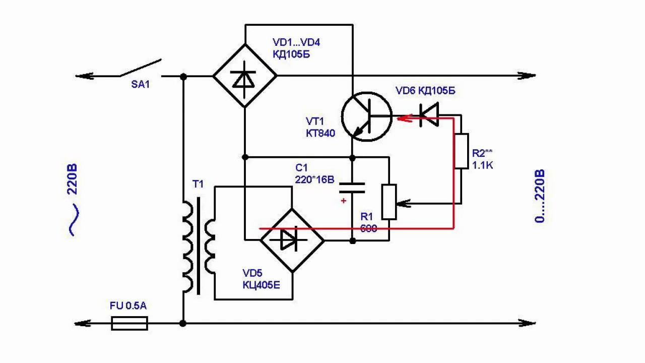 Схемы на транзисторах регуляторов тока