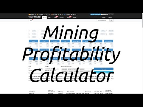 Mining Profitability Calculator