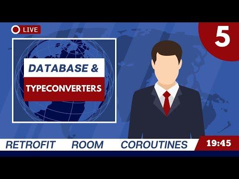 Database and Room TypeConverter - MVVM News App