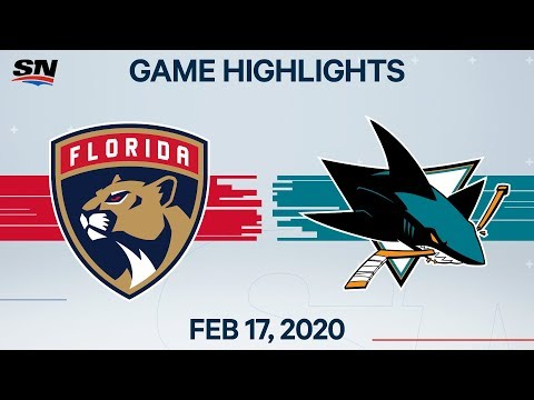 NHL Highlights | Panthers vs. Sharks – Feb. 17, 2020