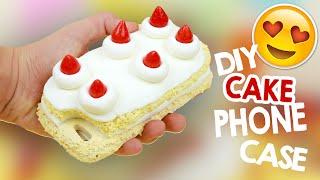 DIY   Strawberry Shortcake Phone Case Tutorial + 100K SUBSCRIBERS! 😍