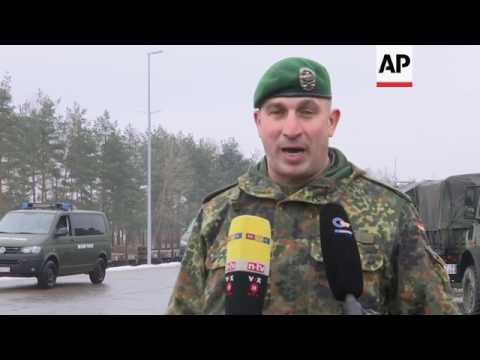 German troops head for NATO mission in Lithuania