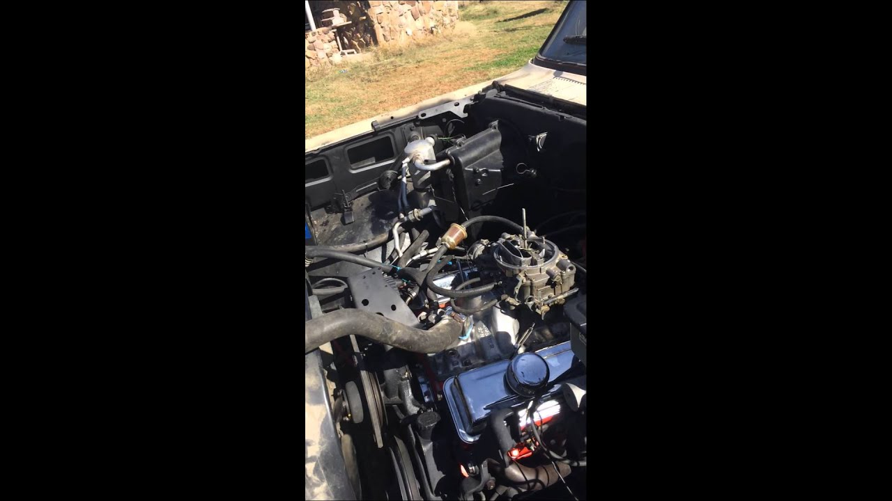 SBC 350 with voodoo cam  Double Hump heads