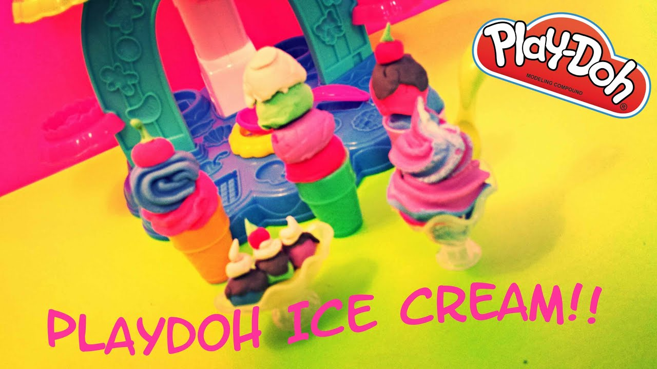 how to make ice cream out of play doh videos