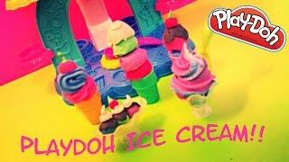 PLAY DOH ICE CREAM! Playdoh toys! Play doh videos! Playdough Fun Toy Video!!