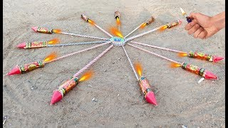 Rocket circle vs Chakari experiment || 11 Rocket vs 1 Chakari experiment || experiment king