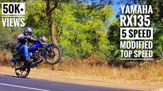 RARE Yamaha RX135 5 Speed Modified | Acceleration | Top Speed | Review | Max RPM