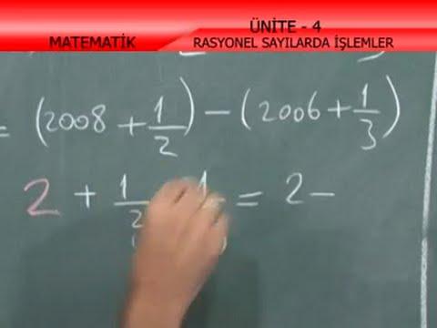 Rasyonel Sayılarda İşlemler - Doğrusal İlişkiler - İlköğretim 7. Sınıf Matematik
