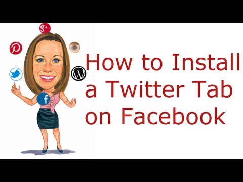 How to Add a Twitter Tab on a Facebook Page