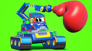 Truck cartoons for kids - JACKHAMMER saves the day! - Super Truck in Car City !