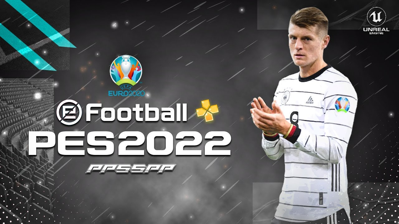 PES 2022 PPSSPP ENGLISH VERSION PS5 CAMERA | EURO 2020 | ANDROID OFFLINE NEW TRANSFERS UPDATE