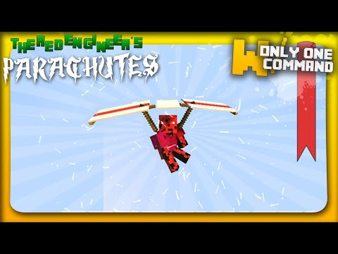 Minecraft - Parachutes with only one command block