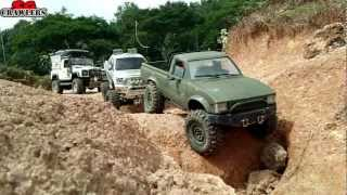 Part2: 12 Trucks Offroad Adventures M35A2 MAN KAT1 8x8 Trail Finder 2 D90 Unimog Wraith Ford Tundra