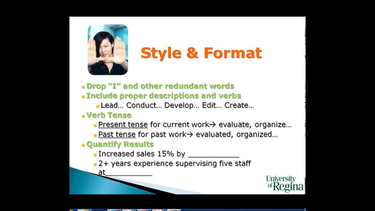 of career centre resume workshop