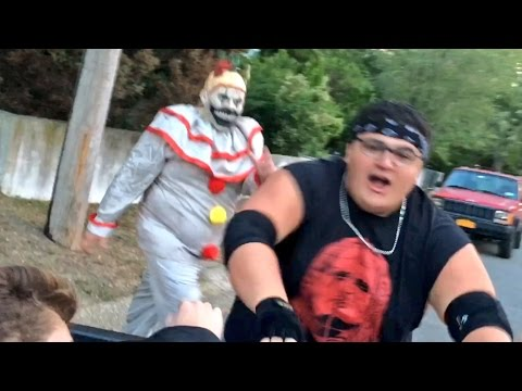 CREEPY CLOWNS FROM THE WOODS KIDNAP FAT KID!