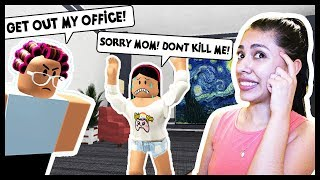 MY MOM GOT MAD AND LOCKED ME IN HER OFFICE TO DIE! - Roblox - Escape Room