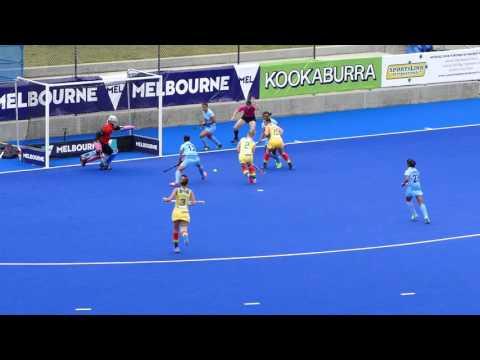 India V Australia Final Womens Hockey 3rd Quarter. Melbourne International Festival Of Hockey