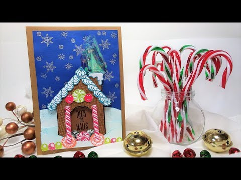 Build A Gingerbread House Card!