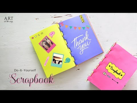 How to make Scrapbook with Sticks | Back to School Craft Ideas