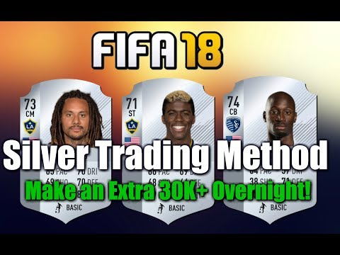 FIFA 18 30K an Hour Low Budget Silver Trading Method  |  Make Coins Overnight!