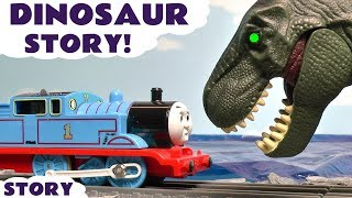 Thomas & Friends Scary Dinosaur Prank Dino in the tunnel - Train toys for kids toy trains story TT4U