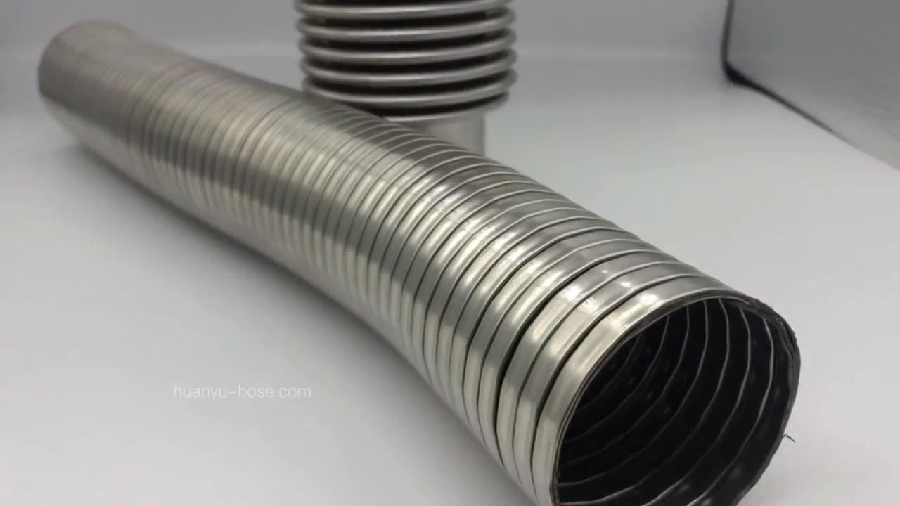 Flexible hose interlock polylock bellow stainless steel