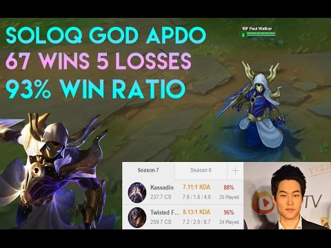APDO's 93% Win Rate Smurf (67W 5L)