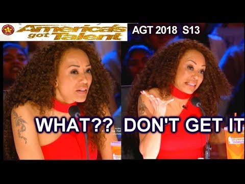 When Mel B DOES NOT GET THE JOKES NOR UNDERSTAND THEM | America's Got Talent 2018 Audition AGT
