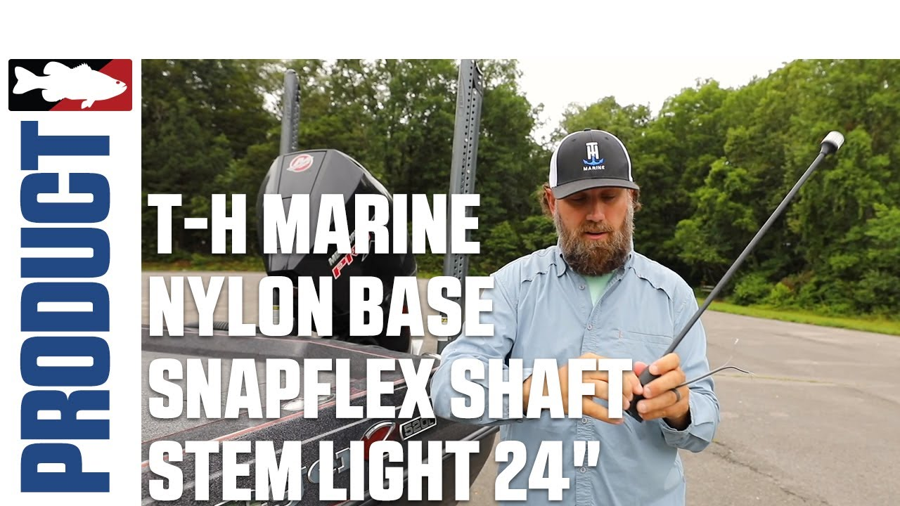 "T-H Marine Nylon Base Snapflex Shaft Stem light 24"" with Luke Dunkin 