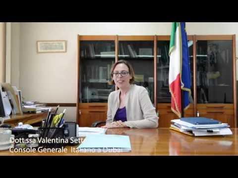 Intervista al Console Generale Italiano a Dubai, dott.ssa Valentina Setta
