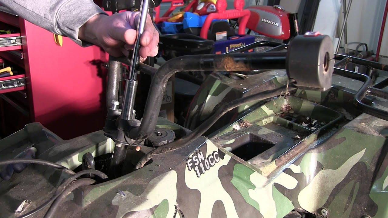 Fsn 110cc Atv   Starting Issues Part 1   Bodywork Removal