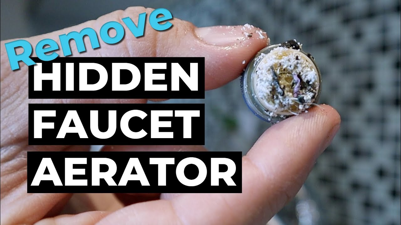 Remove Water Faucet Hidden Aerator Delta You