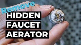 remove water faucet hidden aerator delta