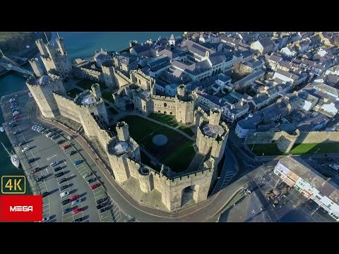 Caernarfon Castle: Breathtaking Aerial View