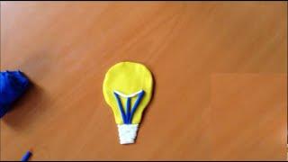Oyun Hamurundan Şekiller - Sarı Lamba