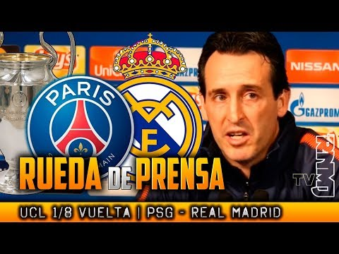 PSG - Real Madrid Rueda de prensa de UNAI EMERY Y DANI ALVES Previa Champions (05/03/2018)