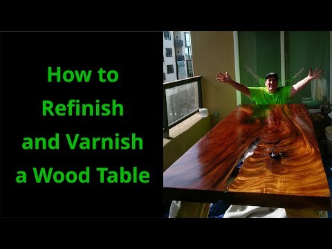 How To Refinish a Wood Table |DIY