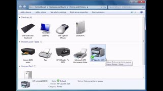 How to install hp laserjet 1015 printer driver on Windows 7 computer manually