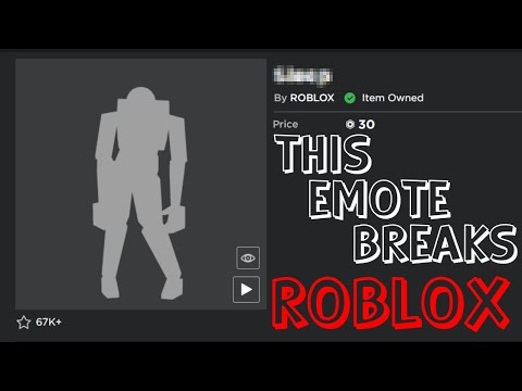 This Emote Breaks ROBLOX...