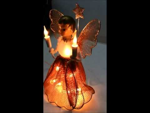 Christmas Angel Vintage Lighted Tree Topper YouTube - Christmas Angel Tree Topper Lighted