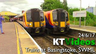 Trains at Basingstoke, SWML (1,500 subscriber special: Part 3) - 24/6/17